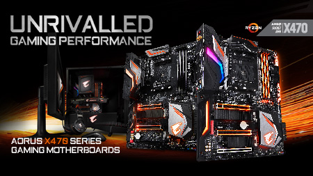 GIGABYTE unveils AORUS X470 Gaming Motherboards