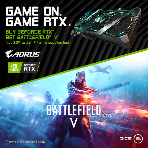 [ APAC ] Buy Selected GIGABYTE RTX Series Graphics Card and Get A Code for Battlefield V