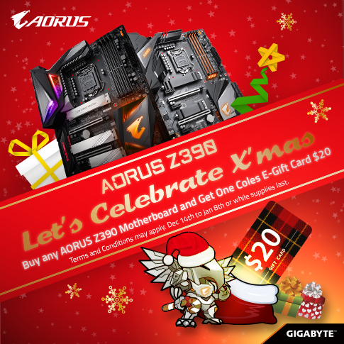 AU - Buy any AORUS Z390 Motherboard, Get a $20 Coles e-Gift Card