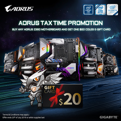 AU - Buy Any AORUS Z390 Motherboard, And Get a $20 Coles e-Gift Card!