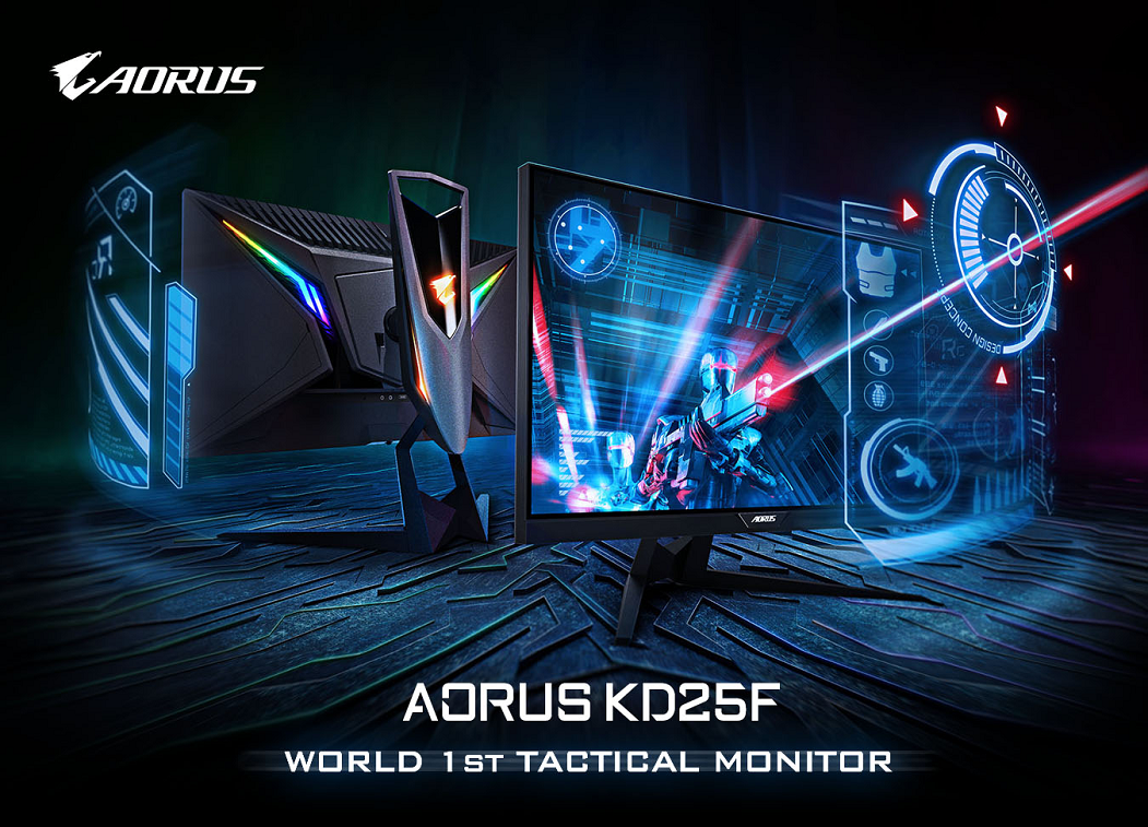 Made for FPS gamers AORUS KD25F Tactical Monitor Launched!