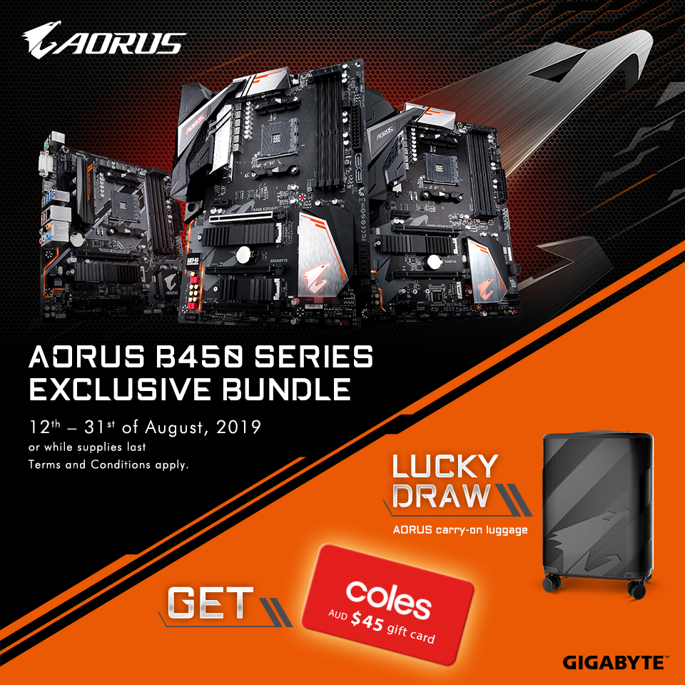 AU - Buy Any AORUS B450 Motherboard, And Get $45 Coles e-Gift Card!