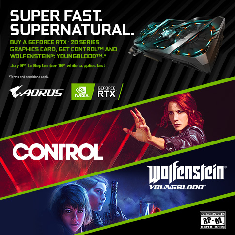 【APAC】Buy a GeForce RTX 20 Series Graphics Card, and Get Control™ and Wolfenstein®: Youngblood™ _APAC