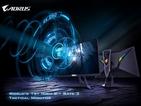 GIGABYTE Announces World's First High Bit Rate 3 Tactical Monitor, the AORUS FI27Q-P